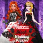 Princess Black Wedding Dresses
