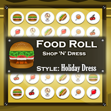 Food Roll Shop N Dress: Holiday Dress