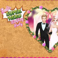 Barbie Superhero Wedding Party