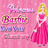 Princess Barbie New Year Clean Up