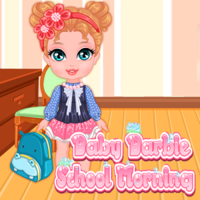 Baby Barbie School Morning