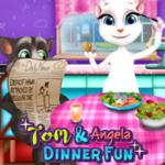 Tom And Angela Dinner Fun