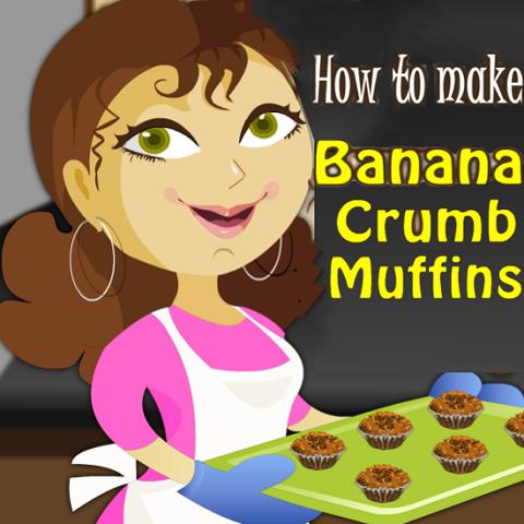 How to Make Banana Crumb Muffins