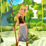 Cute Tribal Huntress Dress Up