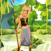 Cute Tribal Huntress Dress Up