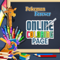Pokemon Forever: Online Coloring Page
