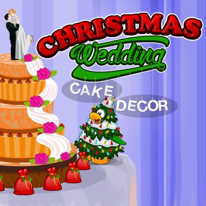 Christmas Wedding Cake Decor