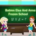 Babies Elsa and Anna Frozen School