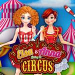 Elsa & Anna Going To Circus