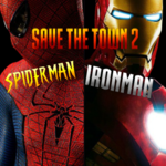 Save The Town 2: Spiderman & Ironman