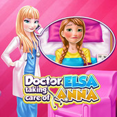 Doctor Elsa Taking Care Of Anna