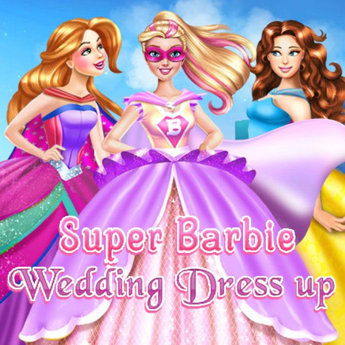 Super Barbie Wedding Dress Up