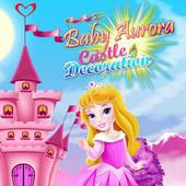 Baby Aurora Castle Decoration
