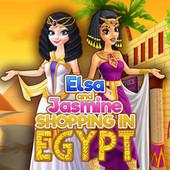 Elsa And Jasmine Shopping In Egypt