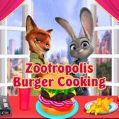 Zootropolis Burger Cooking