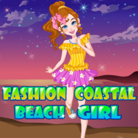 Fashion Coastal Beach Girl