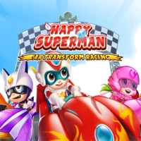 Happy Superman Car Transform Racing