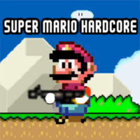 แนวโน้มเกม,Super Mario Hardcore is one of the adventure games that you can play on UGameZone.com for free. Takes on the gameplay of Contra. Pick among four different weapons to use against the minions of Bowser.