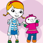 Coloring Doc McStuffins And Lambie