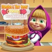 Masha & The Bear Cooking Big Burger