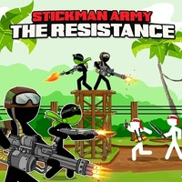 Trendy gier,Stickman Army The Resistance is one of the Defense Games that you can play on UGameZone.com for free. A crowd of renegade stickman has started to invade the jungle and kill people. The last hope of the region is its best army team !!! You are a team of 2 super well-trained soldiers. You are in command of a number of powerfull weapons that can stop the revolutionaries. You can end this war... But this is going to be an epic battle.