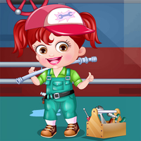 Baby Hazel Plumber Dress Up